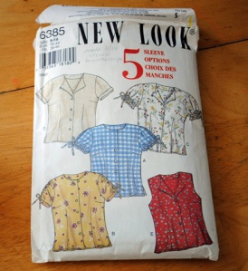 out of print New Look 6385 blouse pattern