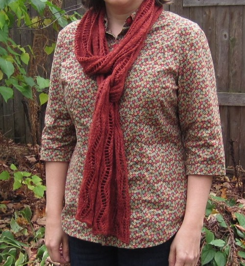 Autumn Lace Ribbon Scarf